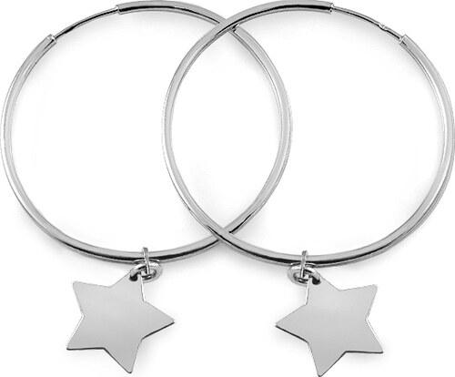 iZlato Forever Strieborné náušnice kruhy s hviezdami IS3674 - Glami.sk 2315884d3d6