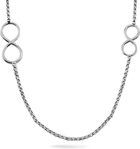 1833c0039 iZlato Forever Strieborný náhrdelník Nekonečno 90 cm IS3796 - Glami.sk