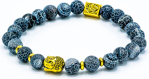 8fca110ab Deltimo buddha náramek zlatý s mořskými kameny D034 - Glami.cz