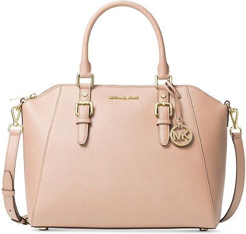 a9b718a46d Michael Kors Ciara large saffiano satchel soft pink - Glami.cz
