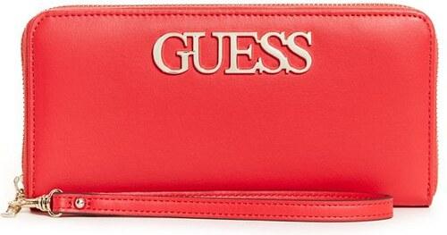 GUESS peňaženka Felix Large Zip-Around Wallet červená 0fd6caea170