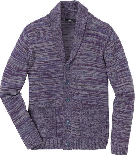 77f7a34d4b25 Bonprix Melírovaný sveter so šálovým golierom Regular Fit - Glami.sk