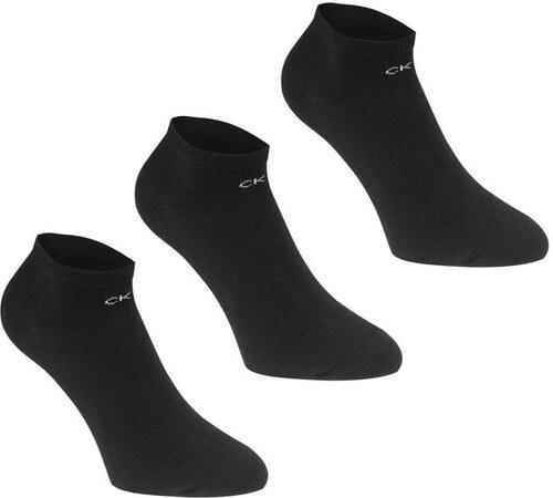 d5a47da0d30 Dámské kotníkové ponožky Calvin Klein Logo 3 v balení Černé - Glami.cz