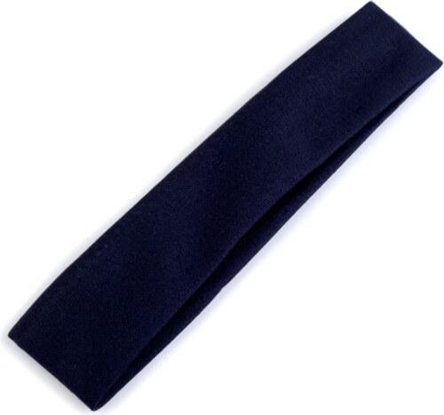 Elastická čelenka do vlasov (tmavo modrá farba) - Glami.sk 401d07adf9