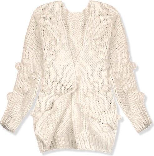 7b5d6e12c42a Butikovo Béžový sveter s brmbolcami - Glami.sk