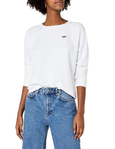 0015 Sweat Levi's Classic Relaxed white Shirt Crew Blanc Femme xwUPOWqp7U