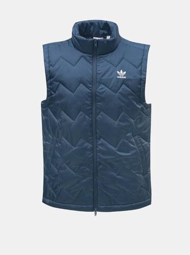 Modrá pánska prešívaná vesta adidas Originals - Glami.sk 24666ecab76