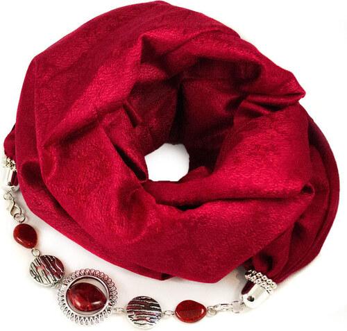 Bijoux Me Kašmírový šál s bižutériou - červený - Glami.sk 2ef81a05c8b