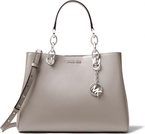 Michael Kors kabelka Cynthia medium leather pearl gray - Glami.cz eb57a17d8b0