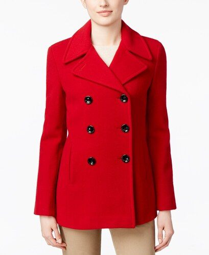Kašmírový kabát Calvin Klein Peacoat červená - Glami.sk 1ef499906c