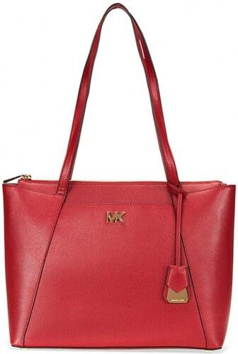 Michael Kors Maddie medium leather tote maroon - Glami.cz 5558049ada3