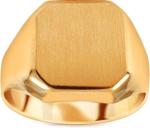 bf99b8865 iZlato Forever Zlatý pánsky pečatný prsteň s matovaním IZ13257 ...
