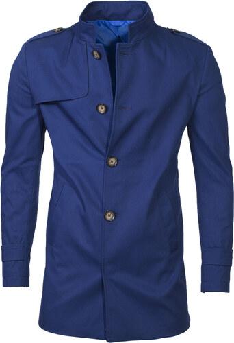 Ombre Clothing Pánský podzimní kabát k obleku Eliot tmavě modrý ... 4c50abda2c