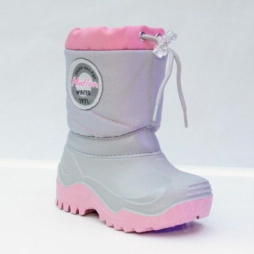 Renbut Detská zimná obuv - snehule MUFLON 32-468 ružové - Glami.sk 8568acbd117
