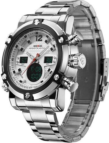 Pánské hodinky WEIDE 5205 bílé + dárek zdarma - Glami.cz 43f0a4a72c8