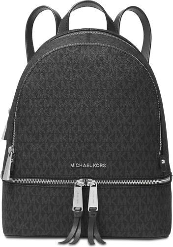 acd009b55f Michael Kors Signature Rhea Zip Medium Backpack Charcoal Silver ...