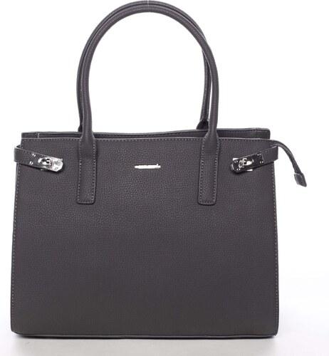 -29% Atraktívna dámska kabelka do ruky tmavosivá - David Jones Eugenie šedá 06231697c03