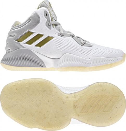 b28785728789c -40% Detské basketbalové topánky adidas Performance Mad Bounce 2018 J (Šedá  / Zlatá / Biela)