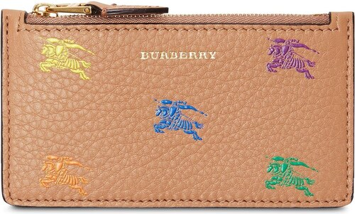 Burberry Equestrian Knight Leather Zip Card Case - Neutrals - Glami.sk 76964e3ff04