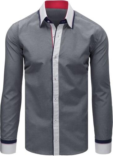 54654a6980b6 Buďchlap Trendová čierna košeľa s dlhým rukávom - Glami.sk