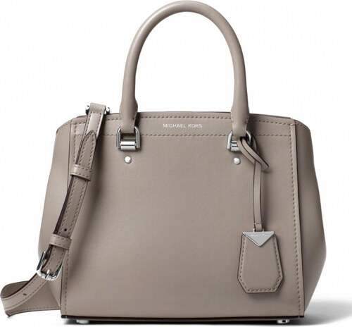 Michael Kors Benning medium leather satchel pearl grey - Glami.cz a394d26f9d0