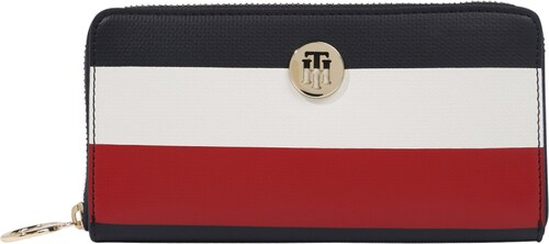 b5f91a8b712 TOMMY HILFIGER Peněženka  EFFORTLESS SAFFIANO ZA WALLET  námořnická modř    červená   bílá