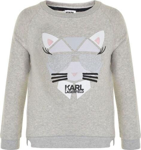 Karl Lagerfeld Girls Choupette Jumper Grey - Glami.cz 61befe81f00