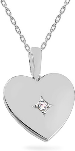 b9a2f0514 iZlato Forever Diamantový prívesok z bieleho zlata 0.020 ct Srdce KU1133A