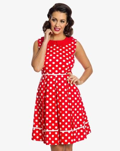 Červené šaty s bílým puntíkem Lindy Bop Molly Sue - Glami.cz c93be572de5