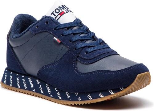 Sneakersy TOMMY JEANS - Casual Sneaker EN0EN00394 Black Iris 431 ... 17b1881b908