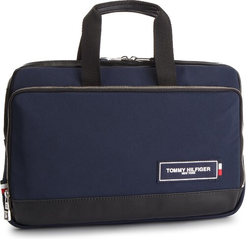 11410bdd9b Taška na Laptop TOMMY HILFIGER - Th Patch Slim Computer Bag AM0AM04344 901