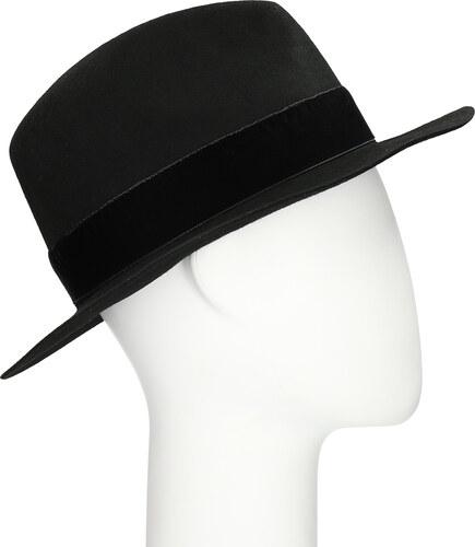 5583dde5b Bata Čierny klobúk so zamatovou stuhou - Glami.sk
