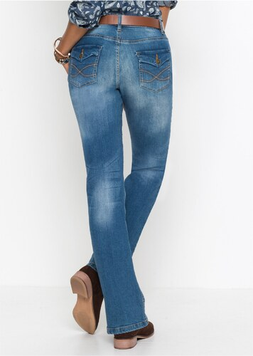 bonprix Strečové džíny s páskem BOOTCUT - Glami.cz 0056c33c44