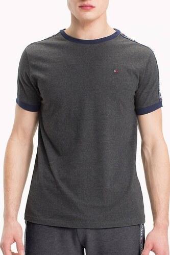 Tommy Hilfiger tmavo sivé tričko RN TEE SS s logom - Glami.sk 0d26754d045