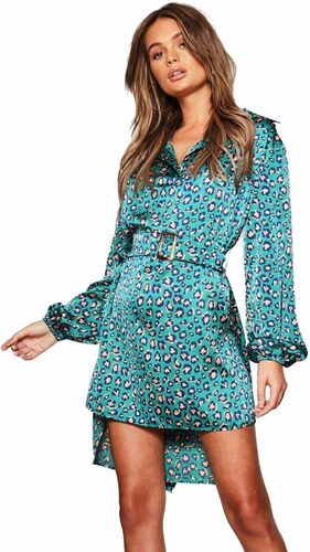 7f67c7cb014 BOOHOO Košeľové šaty s leopardím vzorom - Glami.sk