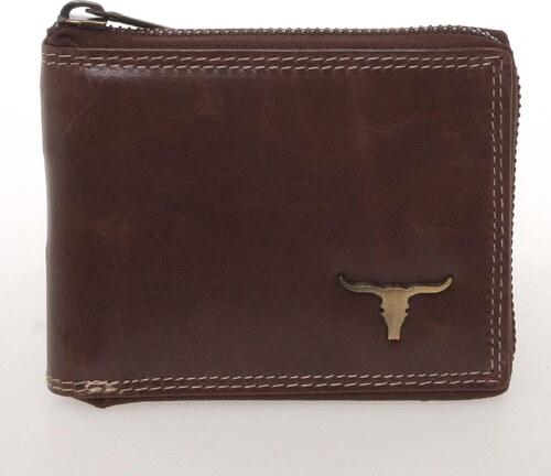 a61e22651d -10% WILD collection Módnía pánska kožená peňaženka na zips hnedá - BUFFALO  Reymundo hnedá