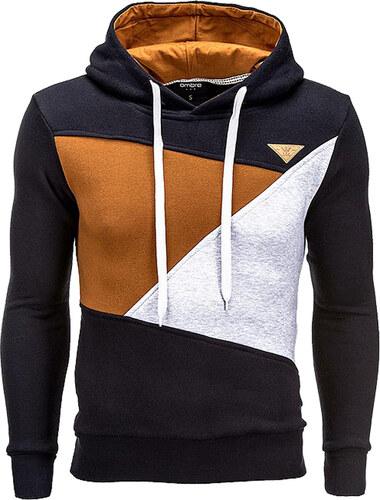 Ombre Clothing Pánská sportovní mikina s kapucí Sean černá - Glami.cz 6bf990db62