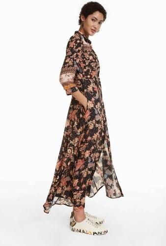 šaty Desigual Erdenet negro - Glami.cz 386a80b2d27