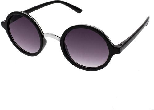 A Collection Guľaté slnečné okuliare Peeper čierne rámy dymové sklá ... 31989fcebcc