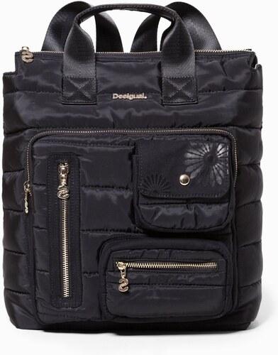 b0222006cd5d Desigual fekete 2v1 táska/hátizsák Bols Magic Maldivas - Glami.hu
