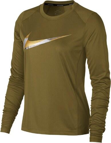a23a04af19c7 Tričko s dlhým rukávom Nike W NK MILER TOP LS METALLIC AH7957-301 ...