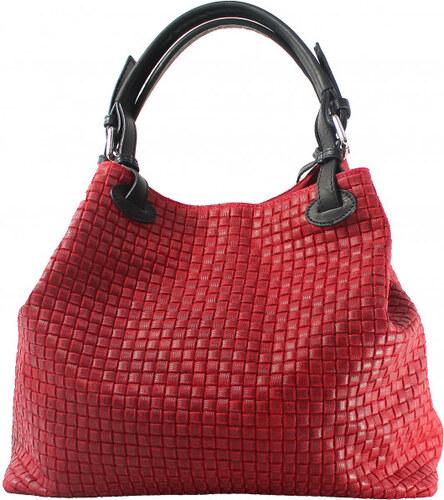 -15% -27% Kožená červená bordó kabelka na rameno madeleine VERA PELLE 27012 3d85d774d3f
