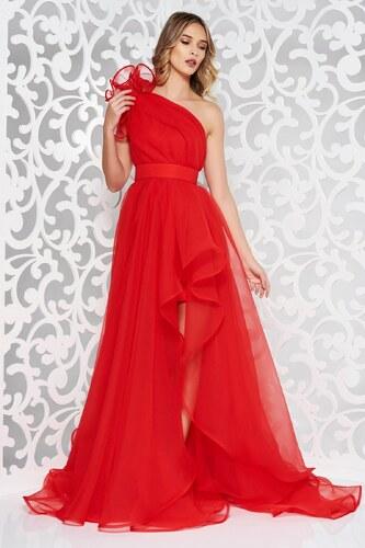 Piros StarShinerS egy vállas tűll ruha estélyi ruhák - Glami.hu b1f99002f7