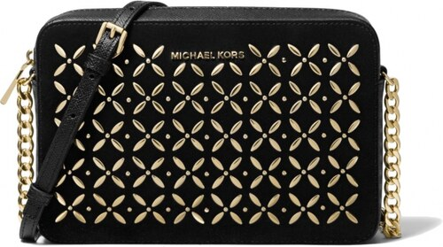Michael Kors jet set large crossbody kožená kabelka embellished black 26830cf8bee