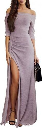 627a617b8fd9 Trendy glitrové maxi dlhé fialkové šaty LC610934-8 - Glami.sk