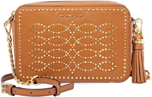 2dcecbabca1b Michael Kors Ginny Medium Studded Leather Crossbody Acorn - Glami.cz