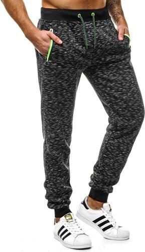 J. Style Pohodlné černé pánské tepláky OZONEE JS 55037 - Glami.cz 9852be28df
