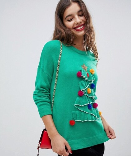 Bravesoul Dámský vánoční svetr Brave Soul 3D Zelený - Glami.cz a36036d854
