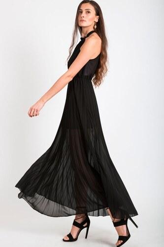 BUfashion Černé dlouhé plisované šaty - Glami.cz a0dd2764722