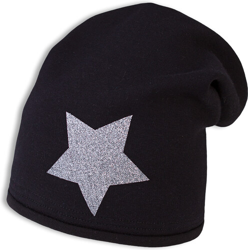 9c6d79fdf Dievčenská zimná čiapka YETTY HVIEZDA čierna - Glami.sk
